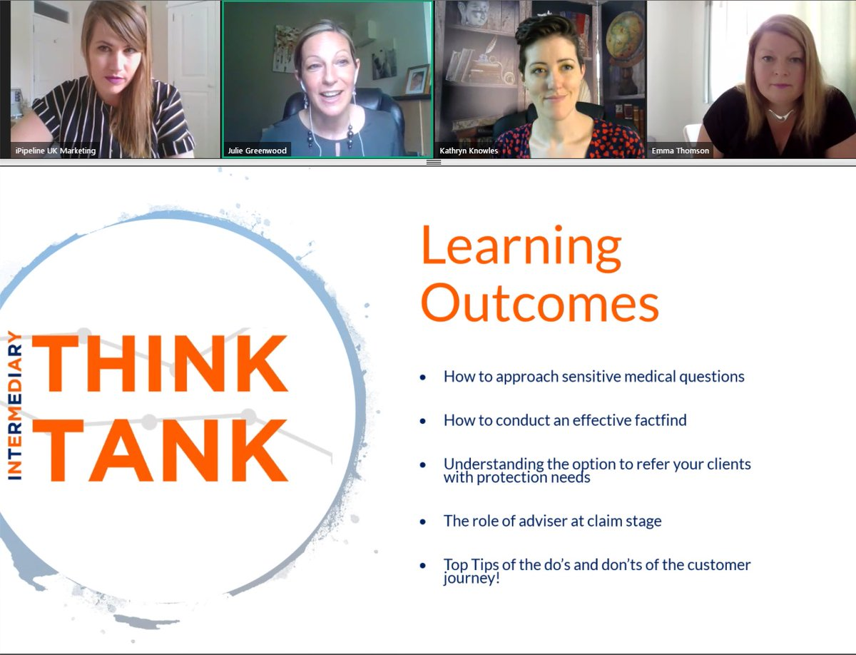 We hope you found our Think Tank #webinar with @BritishFriendly and @Kathryn_Cura useful!   Did you miss it? Don't worry! You can catch up here:   #Protection #FinancilAdviser #Advice #ProtectingLivelihoods