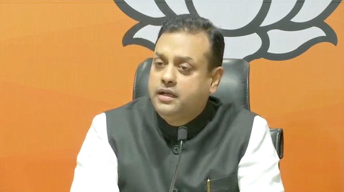 """The #Congress party goes and signs an agreement in #China and in it, the party says that all the important bilateral, regional and international topics will be exchanged. Really, it's surprising,"" said #BJP Spokesperson #SambitPatra (@sambitswaraj), during a media interaction."