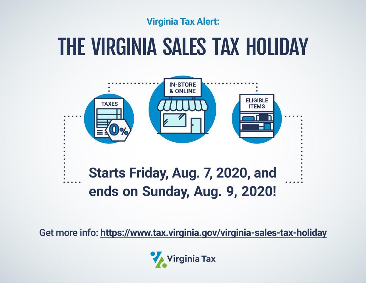 RT @gloucesterva: Don't forget this weekend is Sales Tax Holiday weekend in Virginia:
