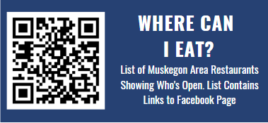Looking for information on food, drinks and sweets in Muskegon County? * Open your camera app * Position your camera on the QR code * Tap the notification that appears to open the link  #VisitMuskegon #ReVisitMuskegon