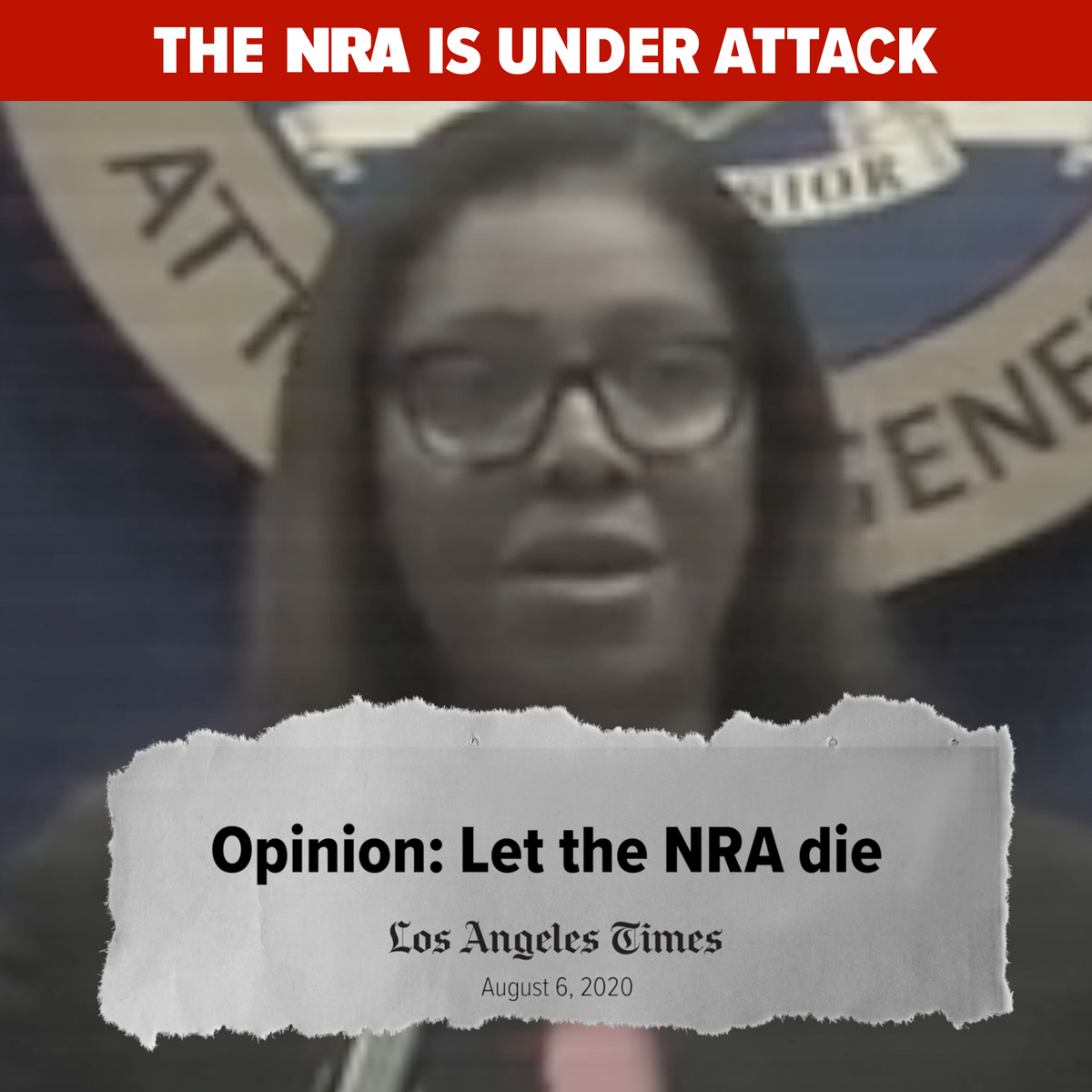 NY AG Letitia James launched an attack aiming to destroy the @NRA.  As one of the nation's most powerful political forces, @NRA members face attacks every single day. Anti-gun elitists, politicians, and the media label us terrorists, killers, and worse.  We will NEVER back down.
