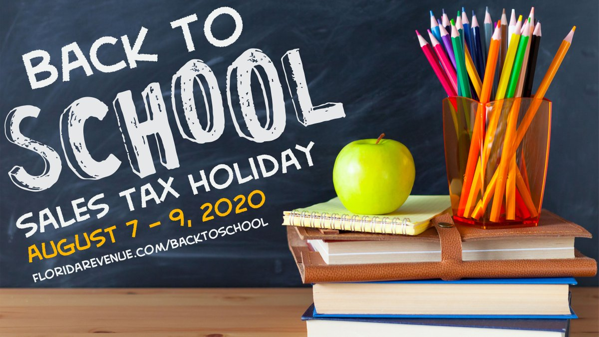 During the 2020 #BacktoSchool Sales Tax Holiday that runs from Aug 7-9, qualifying items are exempt from tax. See the list at  #FL