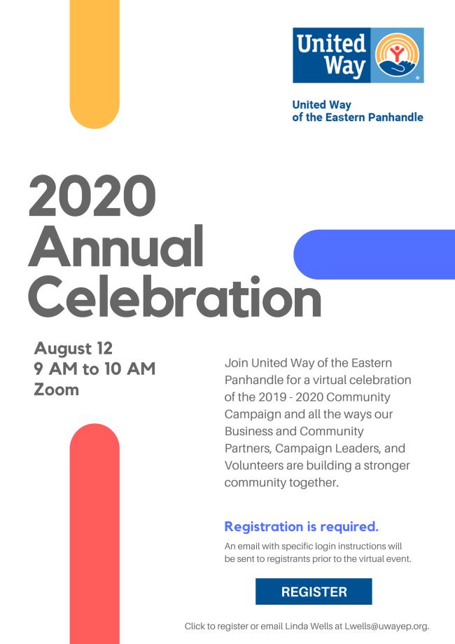 United Way Annual Celebration - Contact Lwells@uwayep.org to register.