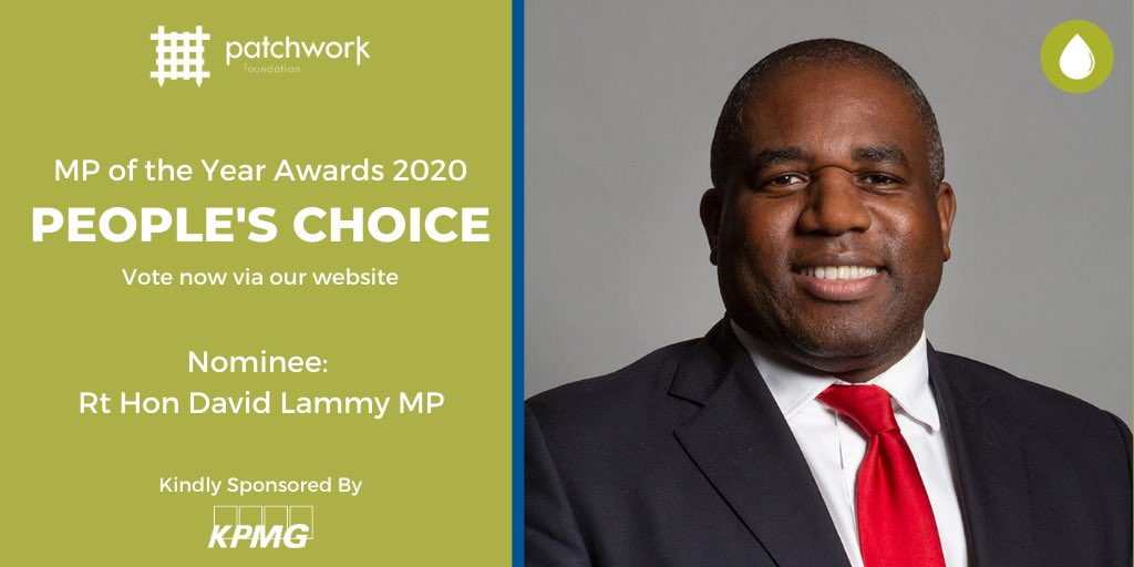 Honoured to have been nominated for #MPoftheYearAwards by @UKPatchwork. Really proud to be alongside so many wonderful colleagues. You can vote for the People's Choice here: