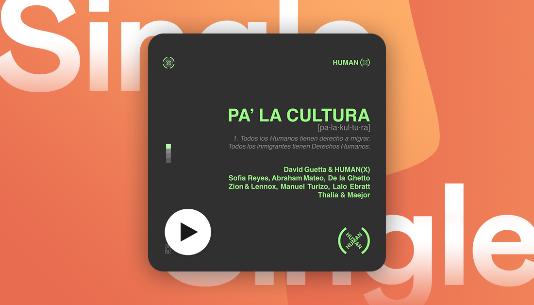 New pop supergroup #HumanX have dropped their first single, calling for Latinos all over the world to unite 🙏   Listen to #PaLaCultura feat. @DavidGuetta, @sofiareyes, @AbrahamMateo, @DeLaGhettoReal, @ManuelTurizoMTZ, @LaloEbratt, @thalia, and @MAEJOR.
