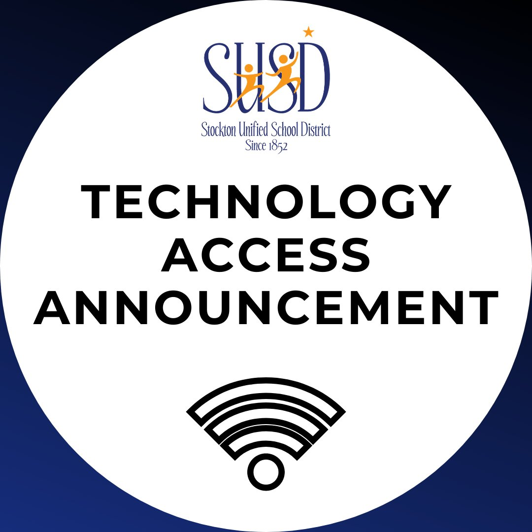 Stockton Unified is pleased to announce that the District has ordered one WiFi-enabled Hotspot for every SUSD household to ensure that all students can participate in distance learning.   Read more: