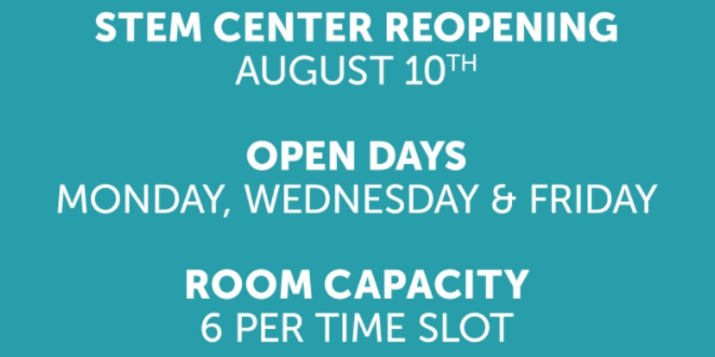 The @MuskegonLMC  STEM Center is reopening on August 10th. Time slots will be spaced for sanitation between bookings  Click here for more information   #visitmuskegon #muskegonmuseums #lakeshoremuseumcenter #stemlearning #stemeducationforkids