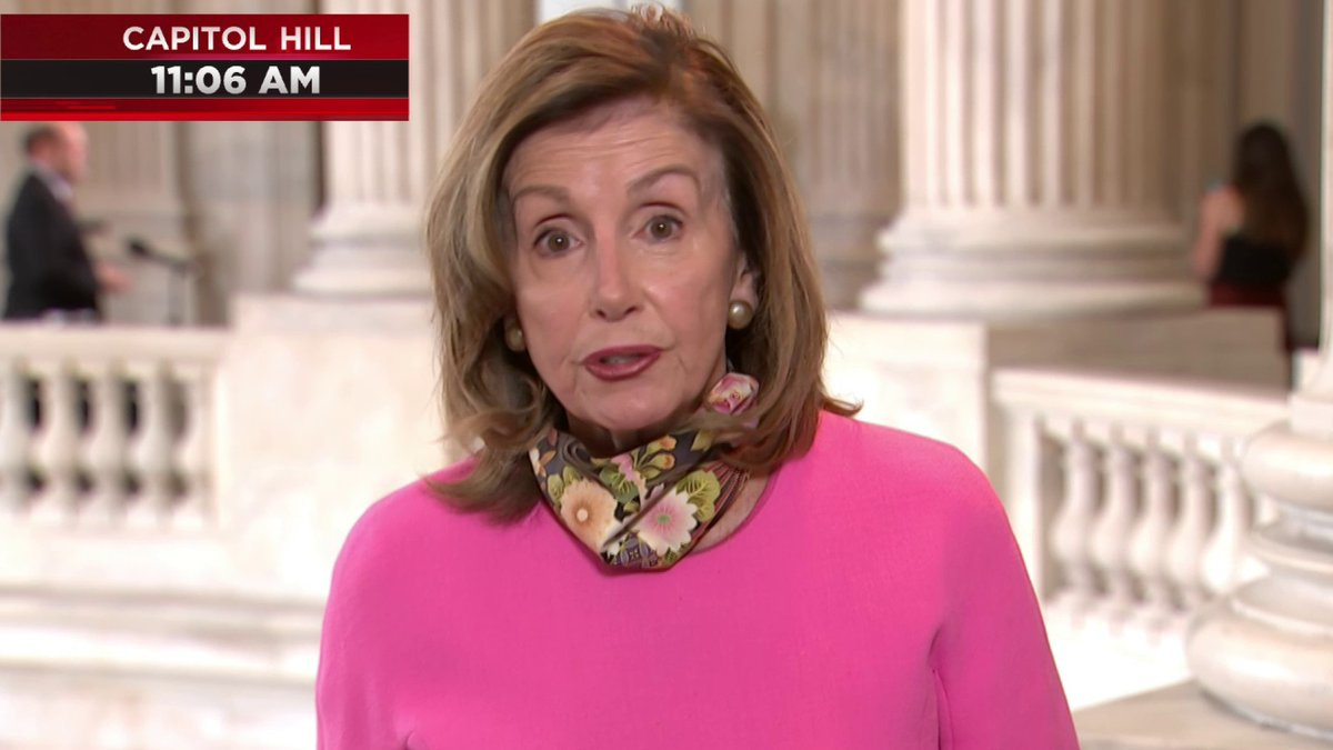 "Speaker Pelosi says Democrats are calling on White House negotiators to hold meeting Friday on coronavirus relief bill:  ""We haven't gotten a response back from them."""