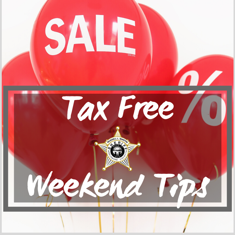 It's Tax Free Weekend! If you shop in stores or online, be aware of thieves looking for opportunities to steal - your items or even your identity. Protect yourself and remember simple safety tips. Learn more at:  …/Consumers