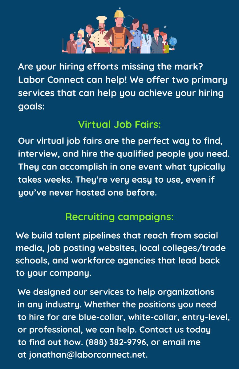 Labor Connect virtual job fairs and recruiting campaigns