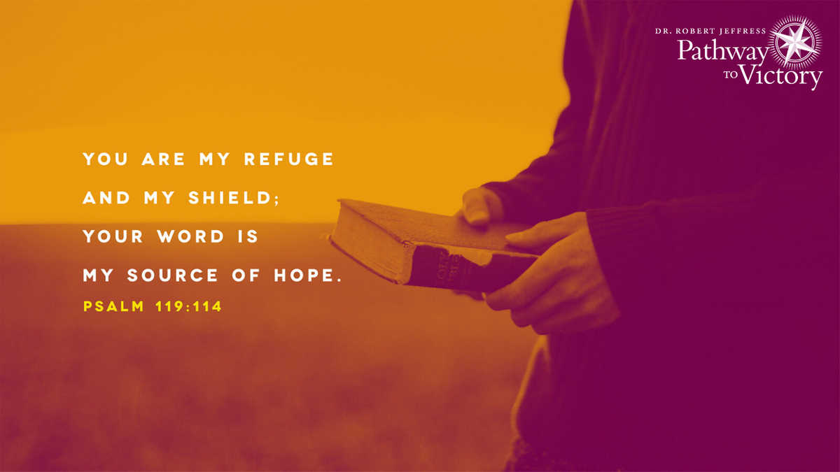 """""""You are my refuge and my shield; Your word is my source of hope."""" - Psalm 119:114"""