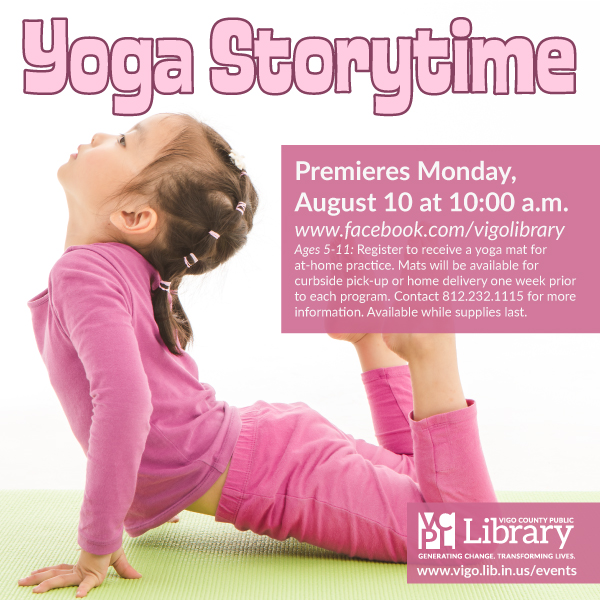 What do you do when your kids are overwhelmed and can't tune out the rest of the world? Help them reduce stress with yoga, stories, songs, and rhymes!    This virtual program is available to everyone—even though the yoga mat kits have been claimed! We'll post the link Monday.  😄