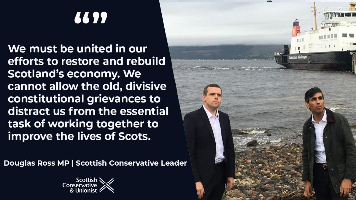 Great to speak to the Chancellor while he was in Scotland today. @RIshiSunak was able to see first hand the support that @GOVUK has provided to individuals and businesses across Scotland over the last few months.