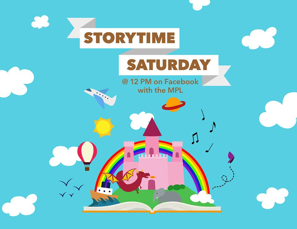 Join us tomorrow at 12 PM for #StorytimeSaturday! This week we have special guest, Millville Fire Chief Michael Lippincott! He will be reading