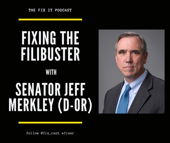 Regardless of the issue – systemic racism, voting rights, health care, LGBTQ quality, reproductive freedom – if you want to #FixIt, we need to fix the Senate and end the filibuster. Listen as I join @KevinTFrazier+ @tweetatnk on @fix_cast to talk about it:
