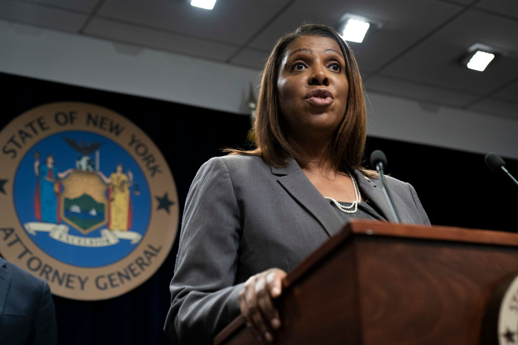 New York's Letitia James has a history targeting conservatives - including President Trump