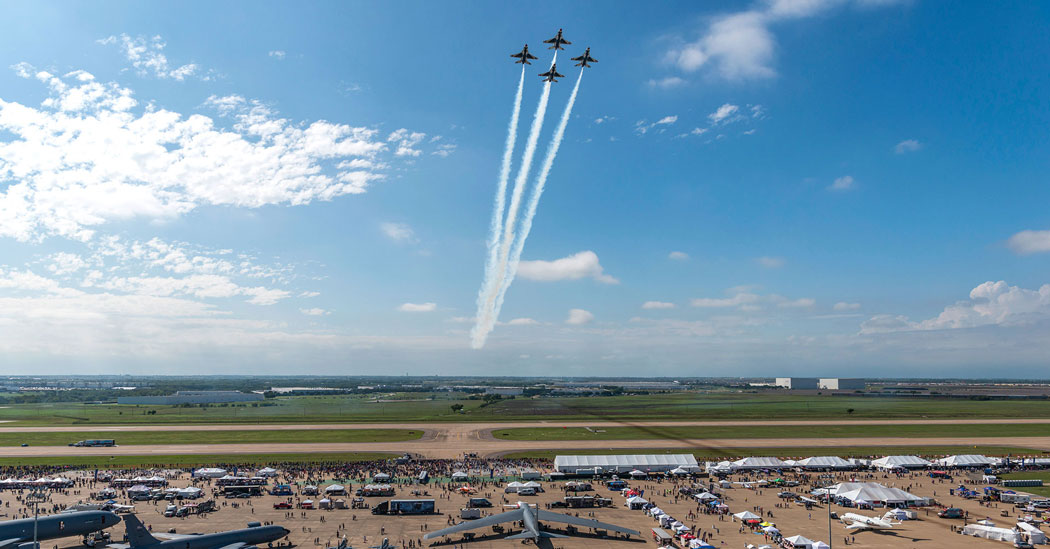 For the first time, the Bell Fort Worth @AllianceAirShow was awarded first place for Best Air Show in the 2020 @USATODAY  @10Best Readers' Choice Awards.