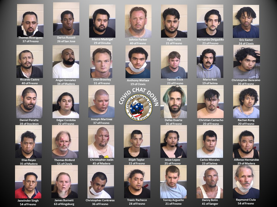 """@FresnoSheriff: #ICAC Operation """"COVID Chat Down"""" Nets 34 Arrests of Potential Sexual Predators"""
