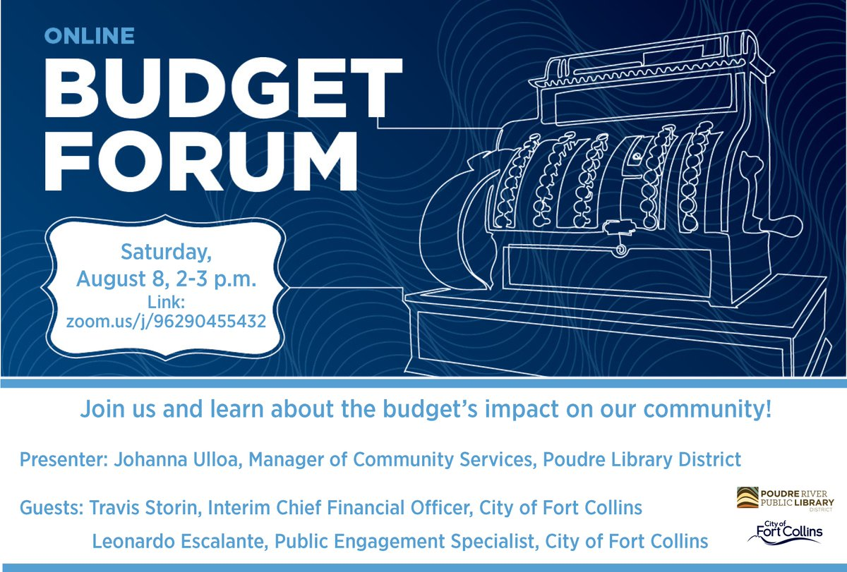 Join us this Saturday, August 8 and learn about the impact our City's budget has in the community!  Zoom link: