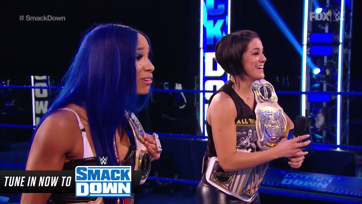 """""""Now, 𝙩𝙝𝙖𝙩'𝙨 what's best for business.""""  @StephMcMahon delivers a shock to @itsBayleyWWE  and @SashaBanksWWE's #SummerSlam plans! #SmackDown"""