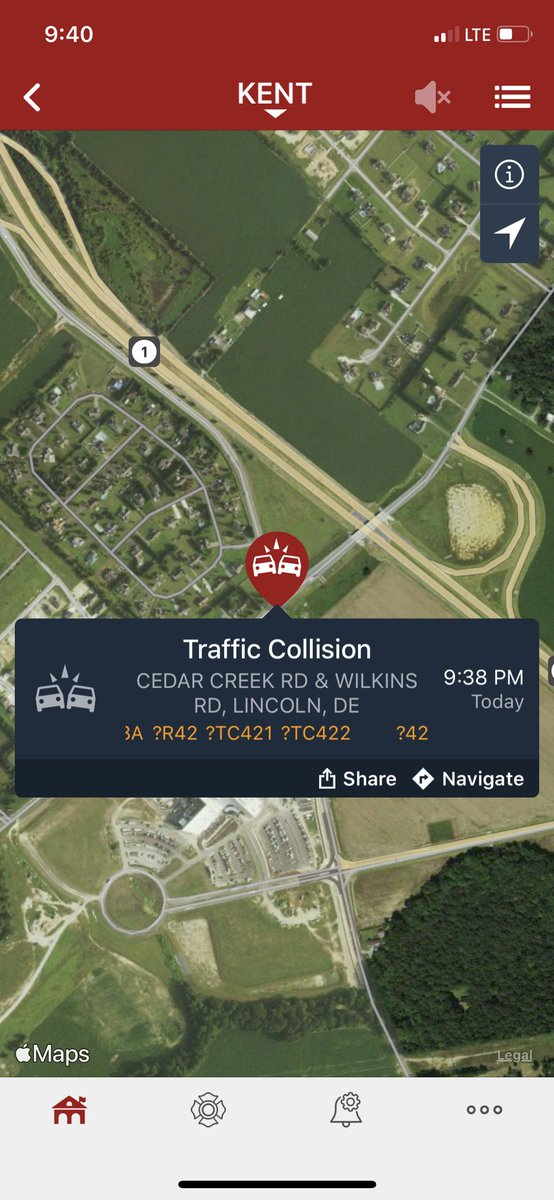 Avoid Cedar Creek Road at Wilkins Road due to emergency personnel on the scene of a motor vehicle collision.