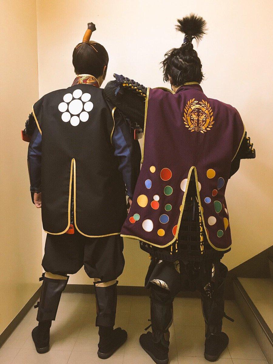 おはよー。昨日は伊達藤次郎政宗、富田翔さんが来てくれてました! 義は繋がってます!! 友を愛し妻を愛し刀を愛した、細川与一郎忠興を演じれてること誇りに思います。 #刀ステ #伊達政宗 #細川忠興