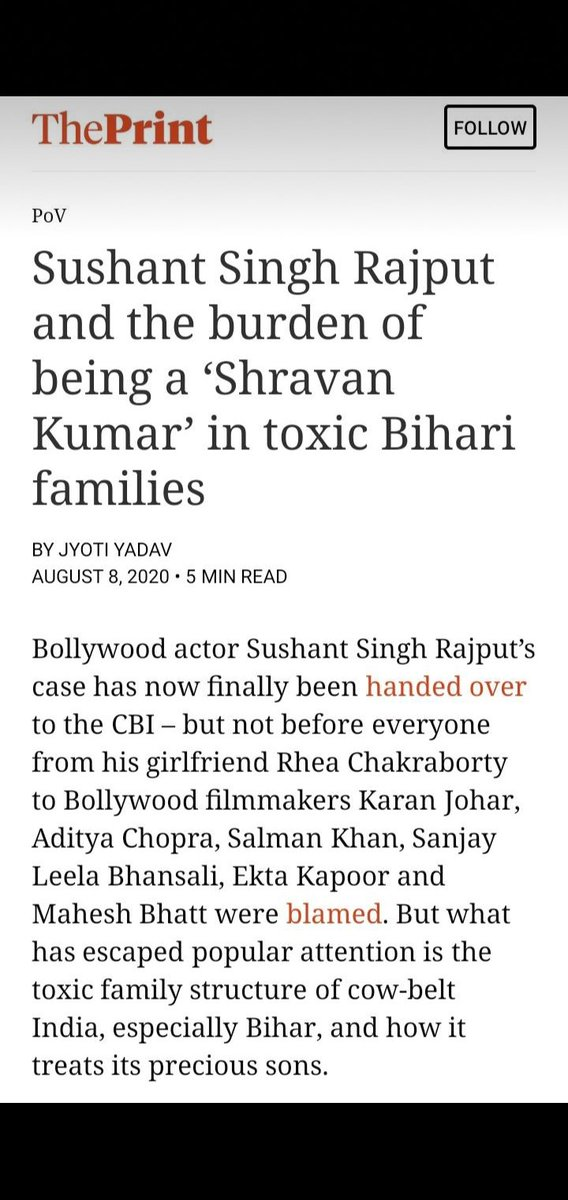 What is this bullshit????Leftist media showing it's original face... Before saying anything look out the history of #Bihari 😤😤😤😤😤😤 It's the land of intellectuals #proudbihari