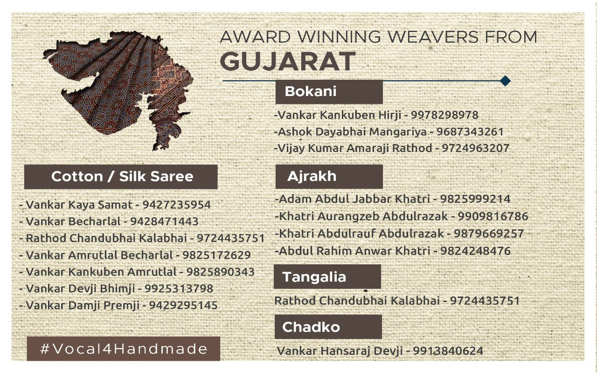 Support our handloom weavers from Gujarat. #Vocal4Handmade @narendramodi @PMOIndia @smritiirani
