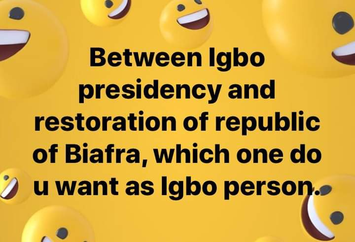 Let's have a Mini Referendum here. Biafrans what do you want? @MaziNnamdiKanu