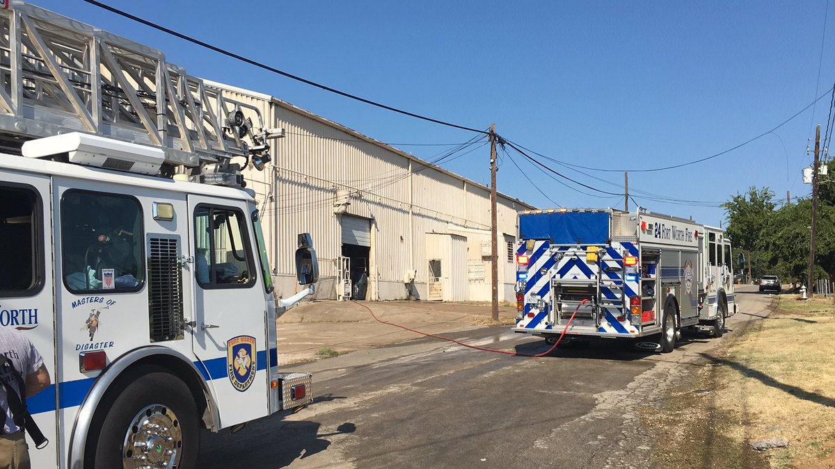 FWFD on scene at 6000 block of Dallas Ave on a commercial structure fire, 40,000 warehouse producing foam products.  Fire under control at 0831.  Fire cause still under investigation. No injuries to civilians or firefighters.