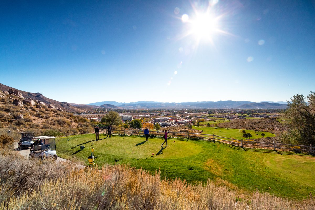 Fresh air and lush greens. Tee off in Carson City today at some of the most beautiful courses in the area. #golfcarsoncity