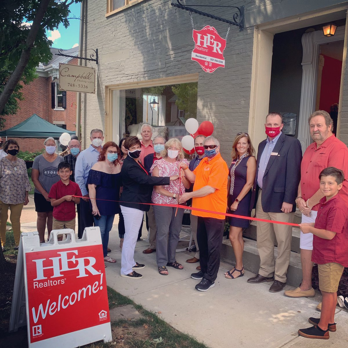 Congratulations to Kerin Campbell, Cindy Kirchoff, and @HERrealtors on the Grand Opening & Ribbon Cutting of their NEW location at 209 South Main Street in Historic Springboro!