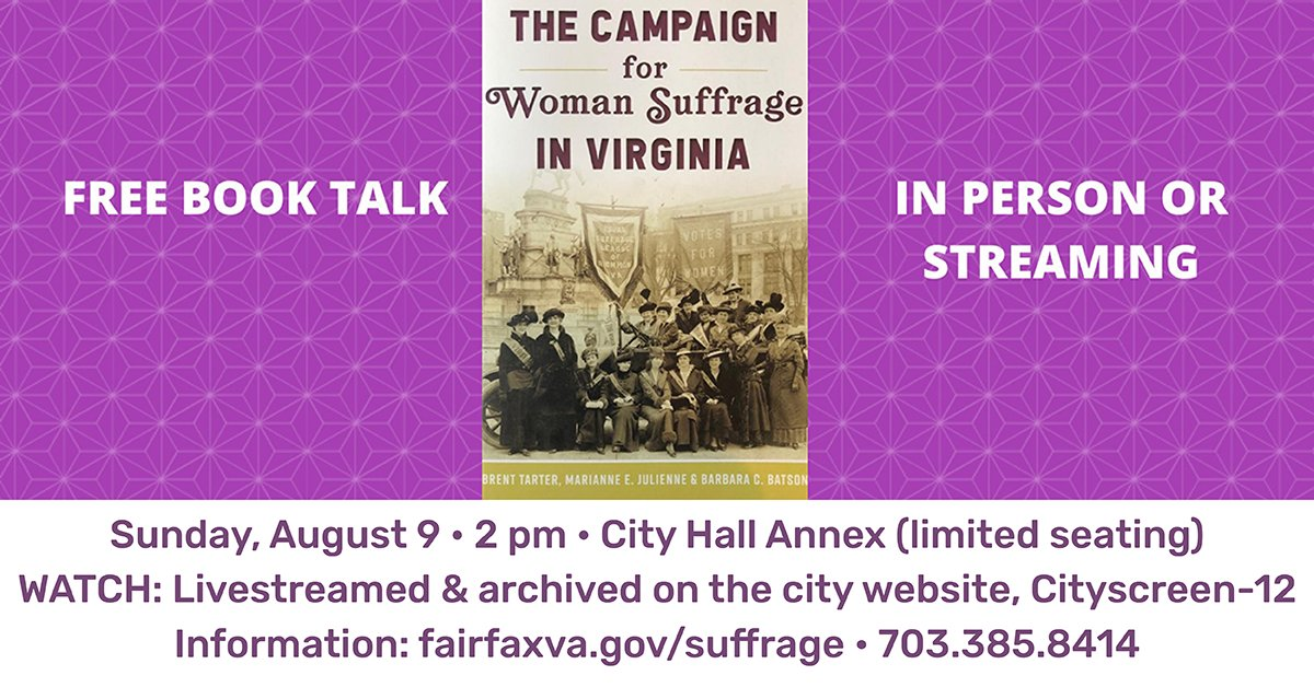 #SecondSunday Series returns, bigger than ever!   Free talk by Barbara Batson, exhibitions coordinator for the @LibraryofVA and co-author of the new book