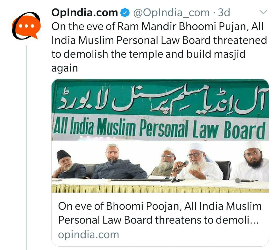 This a new type of Secularism in India if any Muslim leader writes anything Sensitive there is no problem but on other hand. If he was ordinary Hindu twitter user, writing some innocuous against Muslims their would be a case against him, his account suspended, Career Finish.