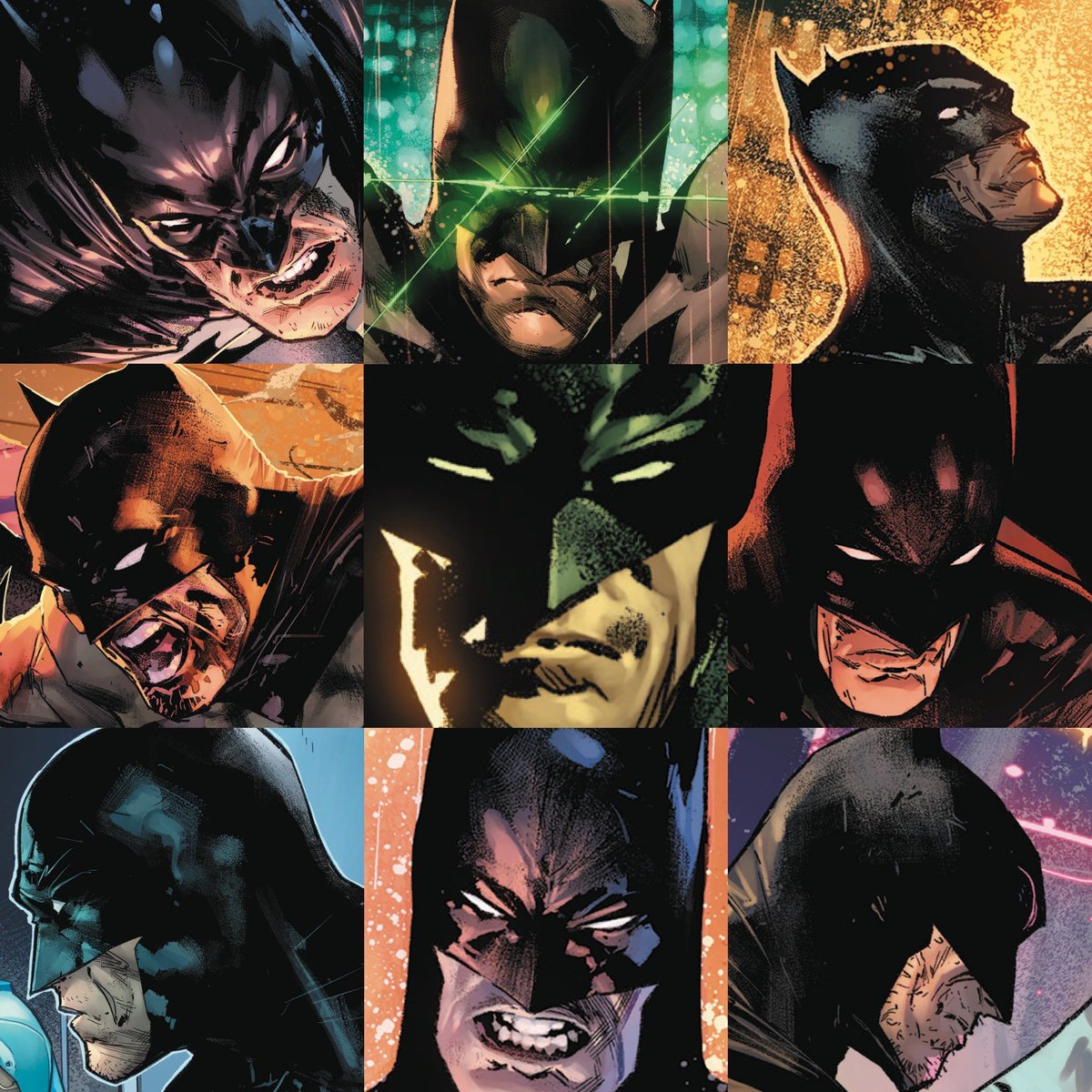 And here you got some #Batman faces too!🦇 #faceyourart  colors by @tomeu_morey
