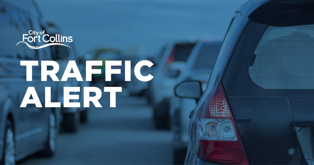 Taft Hill Rd is closed between Trilby & 57th in Loveland due to collision. No injuries, roadway temporarily blocked for infrastructure repairs. Please seek an alt route. We will update when it reopens. #fctrip