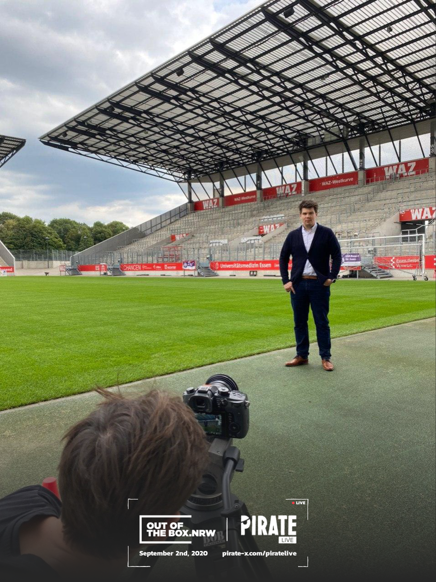 Empty stadiums? Not a problem for our next startup. ⚽💡  AISPORTSWATCH's technology possibly is the closest you will get to an awesome experience as a spectator in times of empty stadiums.   Learn more on   @DWNRW    #piratelive #arrr #ootb
