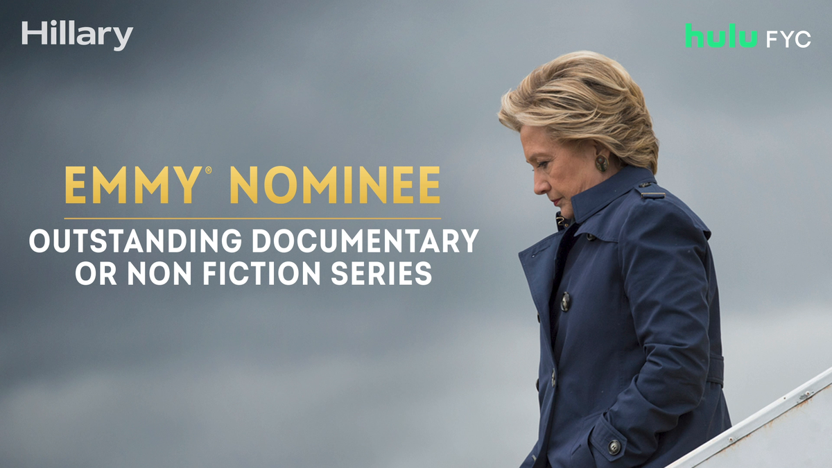 Congratulations are in order –– #HillaryOnHulu has earned an #Emmy nomination for Outstanding Documentary or Nonfiction Series. @HillaryClinton