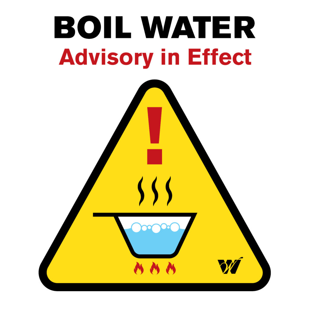 A boil water advisory has been issued for the residents of Bechtel Parsons and Bargain Hunt in the Richmond Mall