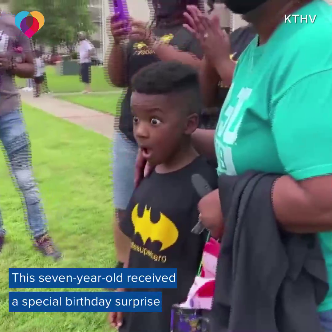 BEST BIRTHDAY: This seven-year-old boy was brought to tears when he received the best birthday surprise thanks to his local police department.