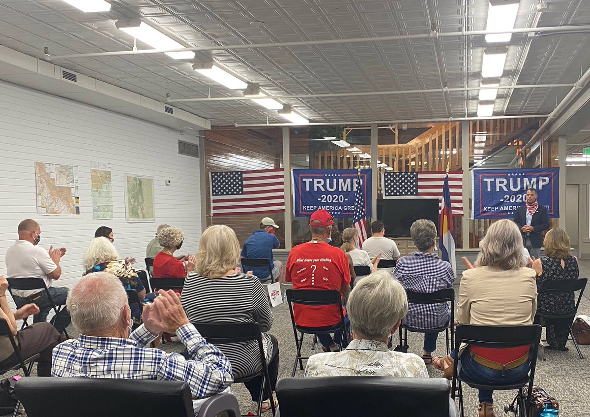 Colorado needs FOUR MORE YEARS of President Trump & Senator @CoryGardner to put America First for every American.  THANK YOU to our @TeamTrump & @GOP volunteers, who joined @LaurenBoebert & me in our Grand Junction field office.  Join US ▶️  🇺🇸