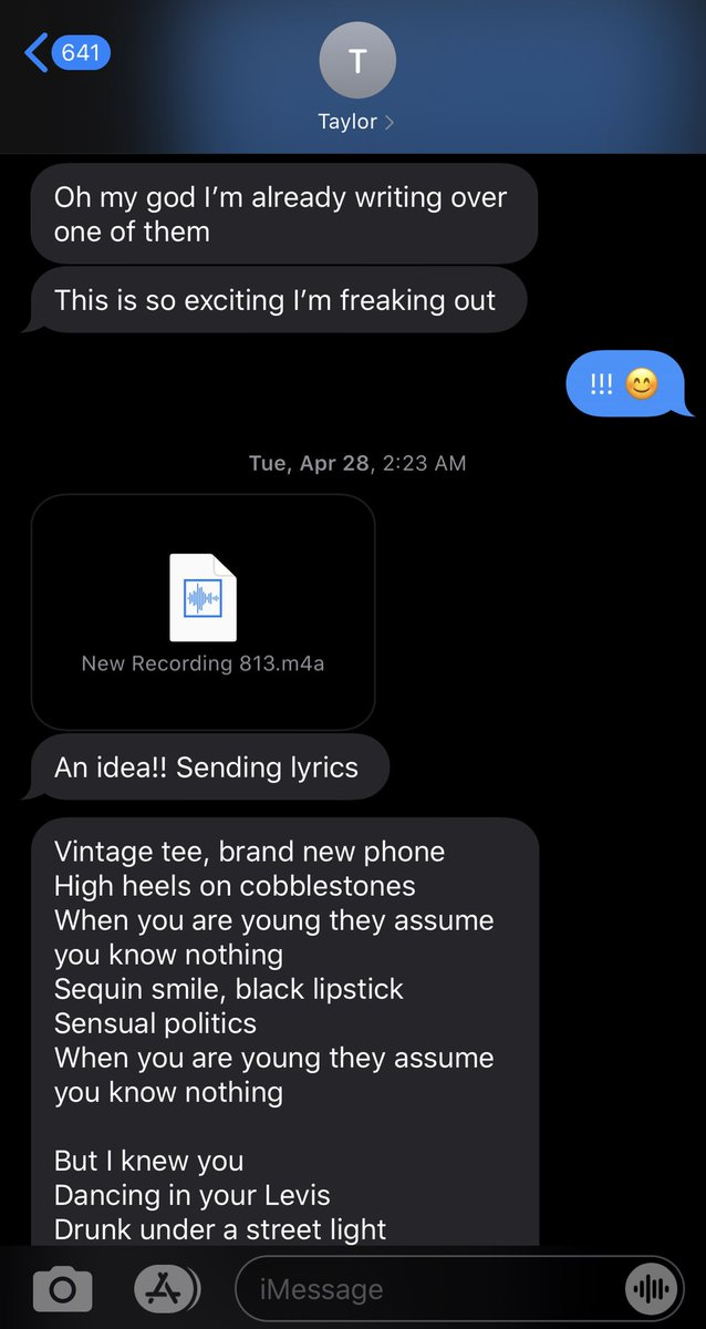 Looking back at @taylorswift13 's text with her original voice memo of Cardigan...still surreal...a special edition of the song with the voice memo (which has alternate lyrics) is available thru Thurs. 7/30 only on her web site and iTunes