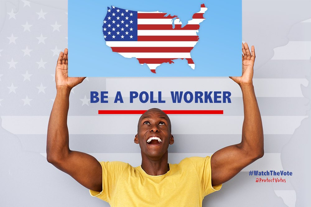 Volunteer as a poll worker. We will need reliable in person voting to handle the hundreds of thousands (or millions) of voters who don't receive their mail ballots on time & 4 those who prefer in person voting. Rs wld love to close polling locations due to a worker shortage. 10/
