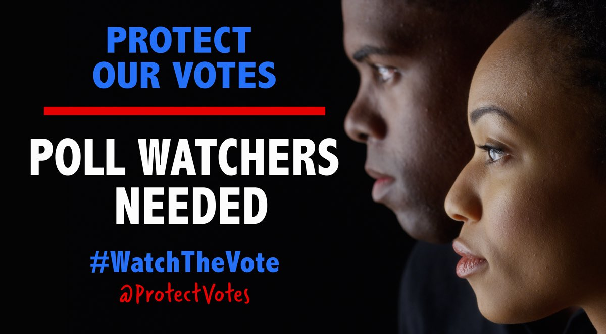 We also need poll observers to help prevent and report voter intimidation and other problems at the polls and to ensure everything is running as it should. Trump is deploying 50,000 monitors. We will need more. 11/