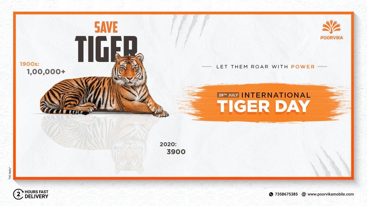 The roar of India's Pride deserves to be Preserved. Let's #SaveTigers & prevent them from going extinct!   #InternationalTigerDay 29th July  #SaveOurTigers #Nationalanimal #ProtecttheTiger #Tigerawareness #SaveWildlife #WeLoveTigers #Tigersforever #RareBreed #PreserveWildlife