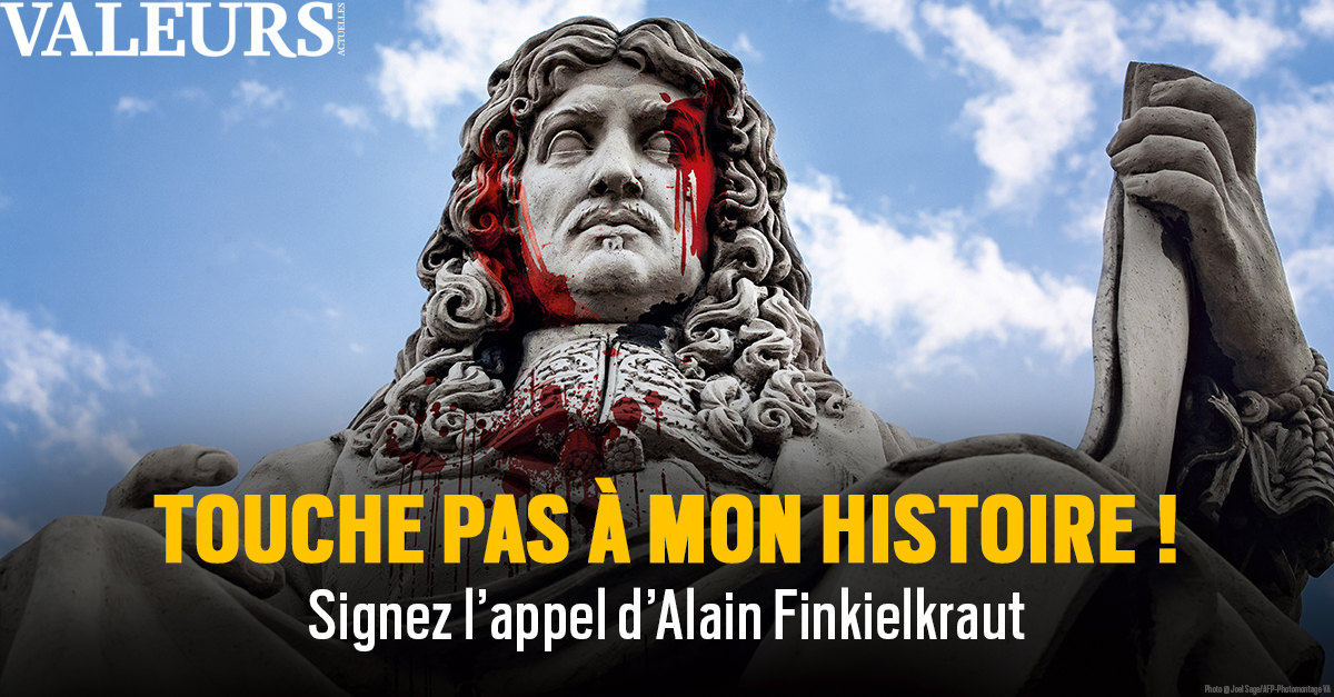💥 Contre la haine de soi, la repentance et le déboulonnage des statues, signez l'appel événement d'Alain Finkielkraut ! 🔽🔽  #alainfinkelkraut #valeursactuelles #touchepasàmonhistoire! #AllLivesMatter #Colbert #madeinFrance