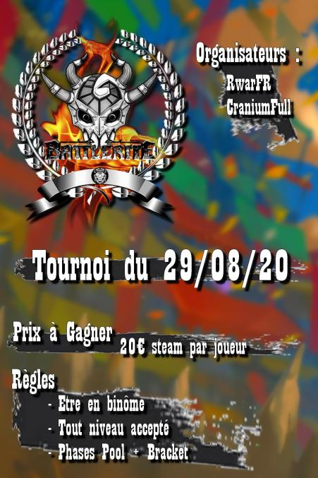 Bonjour twitter Un ami et moi on organise un tournoi sur Battlerite pour le 29 août, ducoup si vous êtes intéressée n'hésitez pas à venir sur le discord sur lequel aura lieu l'event et à nous contacter en mp pour nous assurer de votre participation