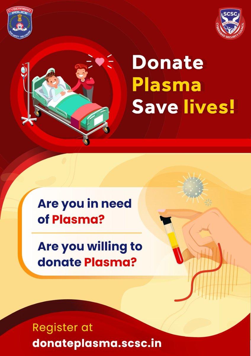 #donateplasma #CoronaWarriors   Please register at    @GenScsc @yedula_krishna @cpcybd @cyberabadpolice @TelanganaDGP @TelanganaHealth @MinisterKTR