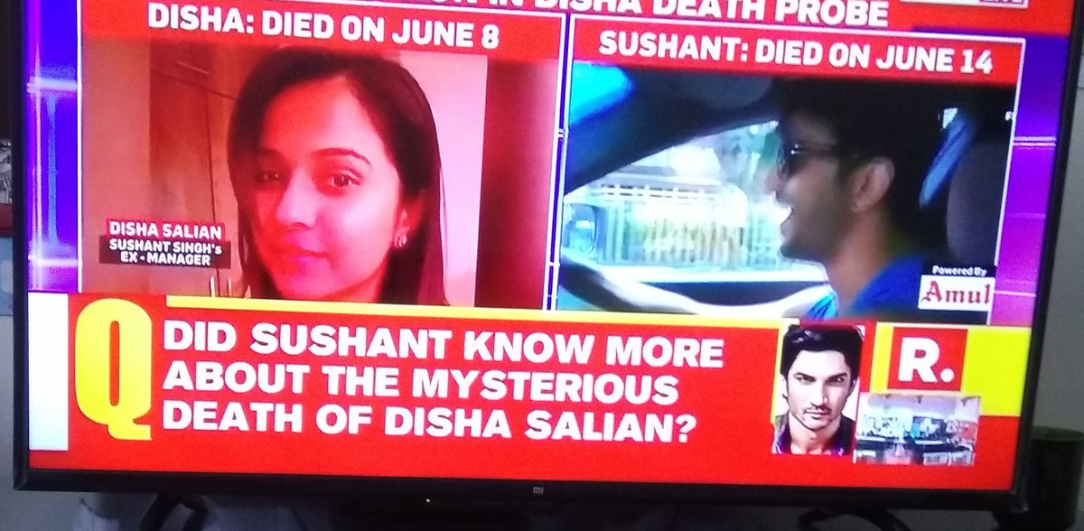 I am so thankful to @republic for using word mysterious death for #DishaSalian. Yes there was connection.  Here the hint for @republic, If you find out who was in the party with Disha, you can get some details.  I have seen similarity between both murder.  #Dhara320ForSSRCulprits