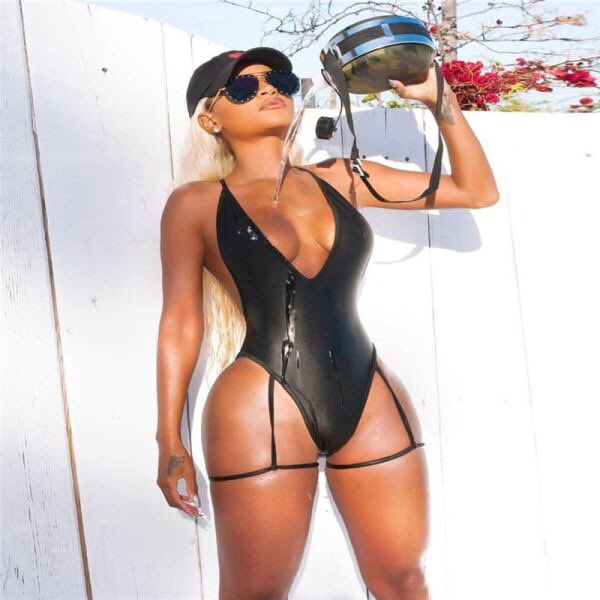 Backless deep V front one piece #swimsuit Made from polyester & spandex #super #sexy #swimwear